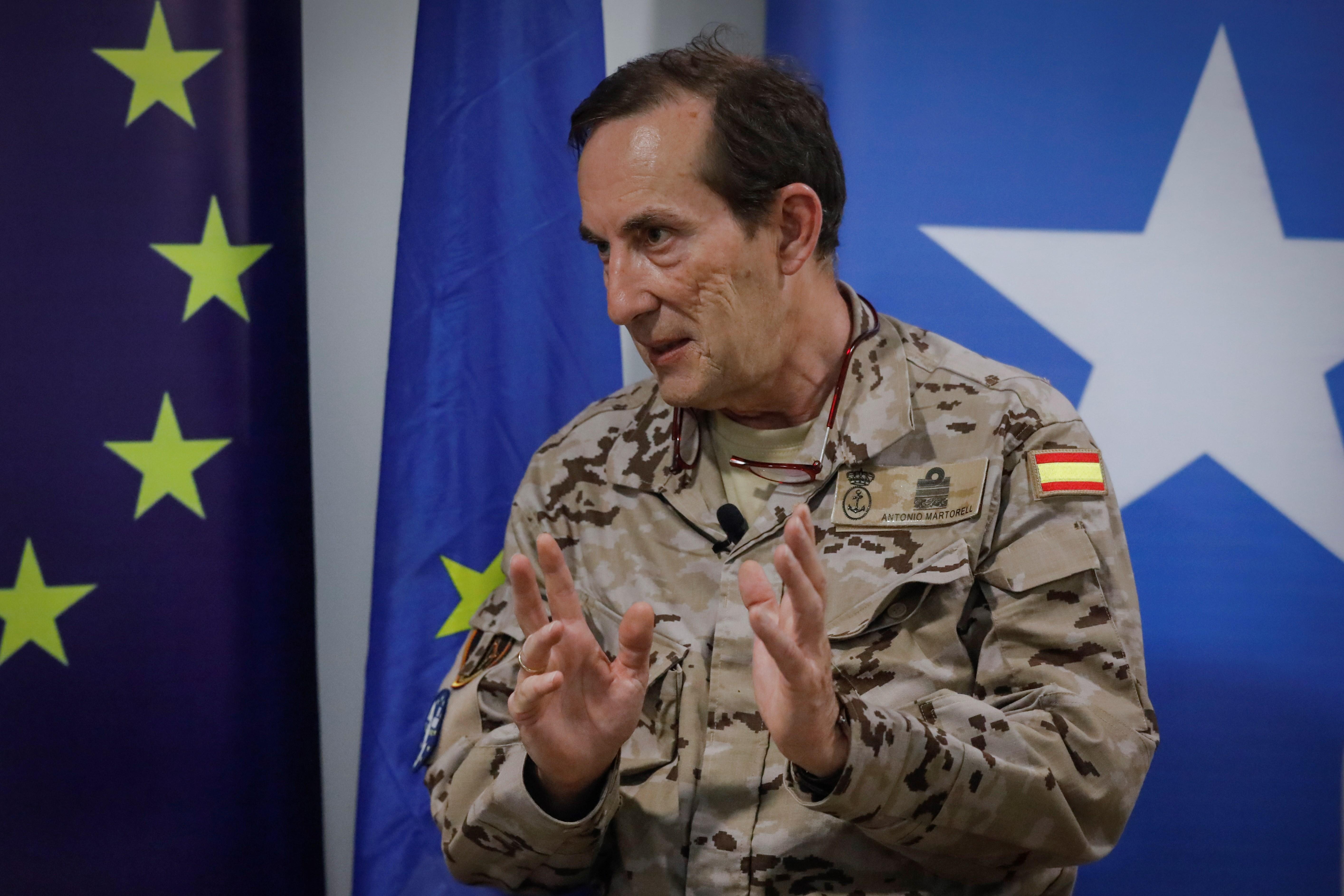 ice Admiral Antonio Martorell Lacave, Commander of the EU NAVFOR Somalia, Operation Atalanta