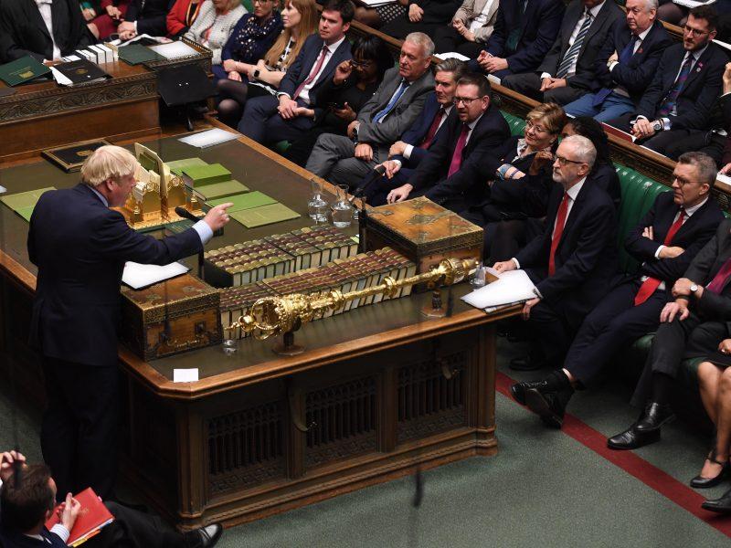 Johnson en el Parlamento