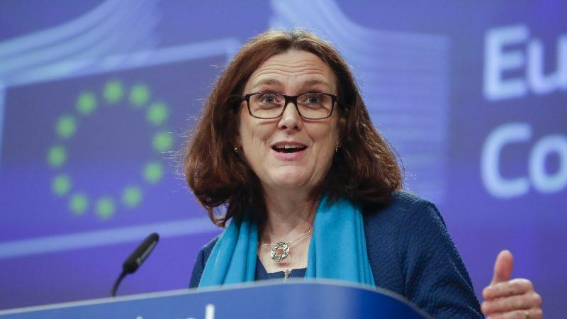 La comisaria europea de comercio