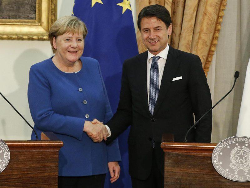 Merkel y Conte