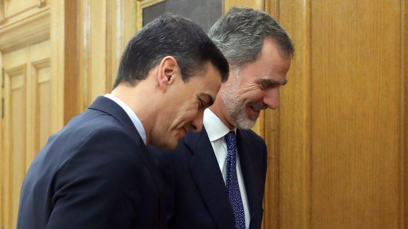 Felipe VI recibe a Pero Sánchez en la ronda de consultas