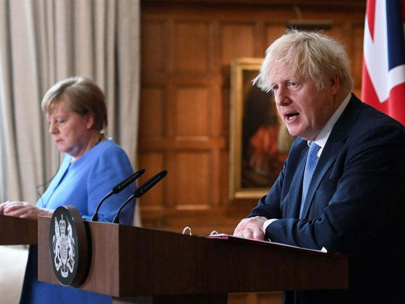 Merkel y Boris