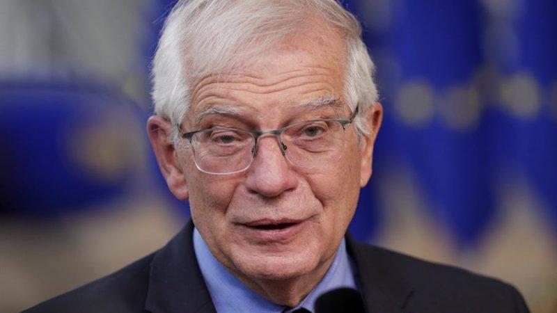 Alt= El alto representante para la Política Exterior de la Unión Europea, Josep Borrell, este jueves 21 de octubre de 2021 en Bruselas, Bélgica. EFEEPAOLIVIER HOSLET POOL