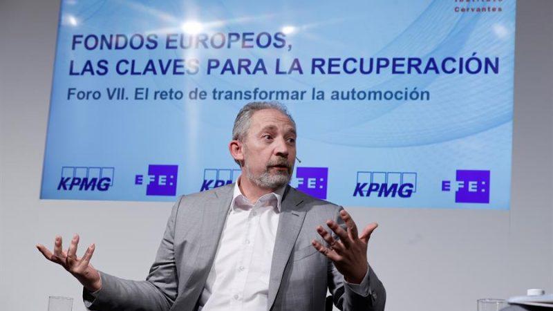 Alt= El vicepresidente de compras SEAT España, Alfonso Sancha,en el VII Foro EFE-KPMG sobre fondos europeos celebrado este martes en Madrid. EFE/ Emilio Naranjo