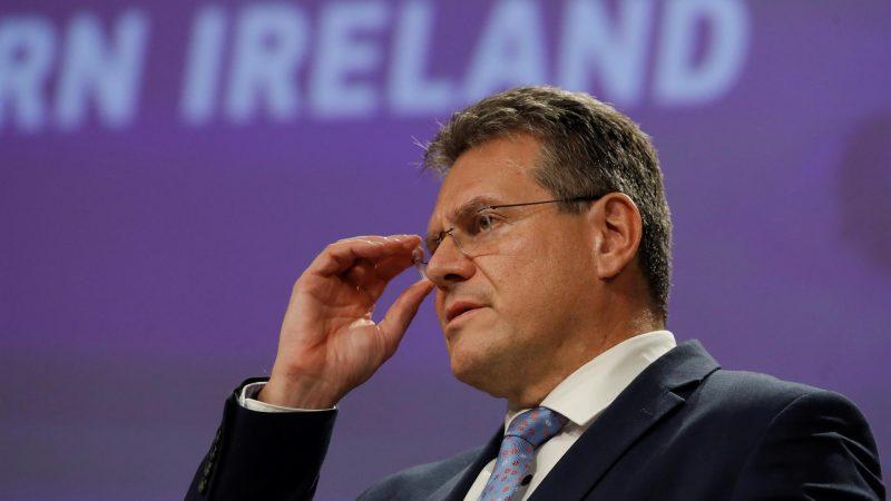 Alt = El vicepresidente de la Comisión Europea Maros Sefcovic este miércoles en Bruselas. EFE-EPA-OLIVIER HOSLET