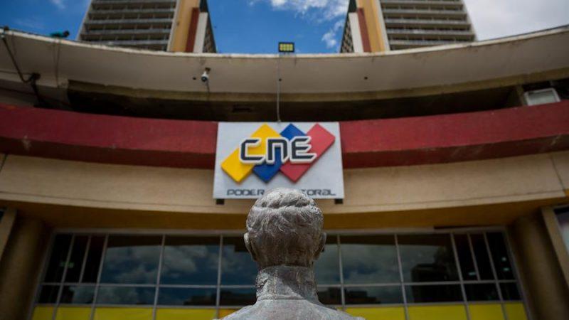 Alt= Vista de la fachada de la sede del Consejo Nacional Electoral (CNE) en Caracas,Venezuela. EFE/ Miguel Gutiérrez/Archivo