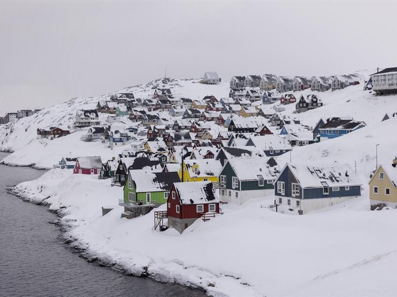 Alt= Vista general de Myggedalen en Nuuk, Groenlandia. EFE / EPA / Christian Klindt Soelbeck/Archivo