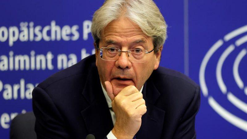 Alt=El comisario europeo de Economía, Paolo Gentiloni, en Estrasburgo,Francia.EFE/EPA/RONALD WITTEK / POOL /Archivo