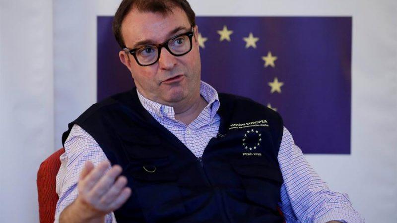 Alt=El jefe de la Misión de Observación Electoral de la Unión Europea (MOE UE), Manuel Sánchez de Nogués. EFE/Paolo Aguilar/Archivo