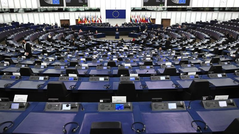 Alt=Vista del Parlamento Europeo el pasado 20 de octubre de 2021. EFE/EPA/FREDERICK FLORIN