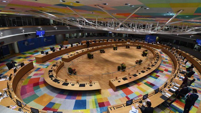 Alt=Vista general de los líderes europeos durante el Consejo Europeo el 21 de octubre de 2021. EFE/EPA/JOHN THYS / POOL